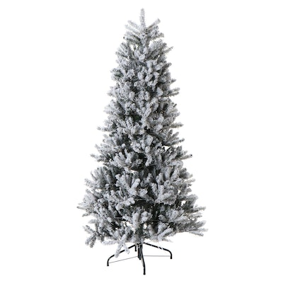 Santa's Best 4' Flocked Frasier Fir Pre-Lit Christmas Tree