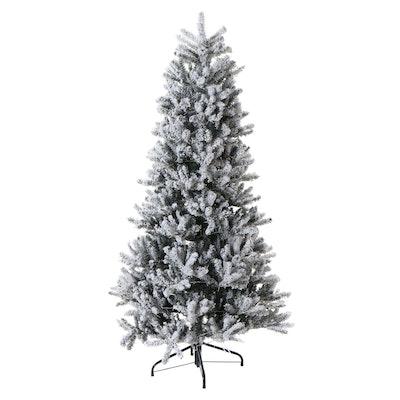 Santa's Best 4' Flocked Frasier Fir Pre-Lit Christmas Tree