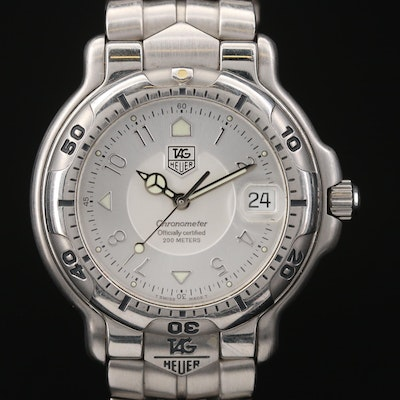 TAG Heuer 6000 Chronometer Stainless Steel Automatic Wristwatch