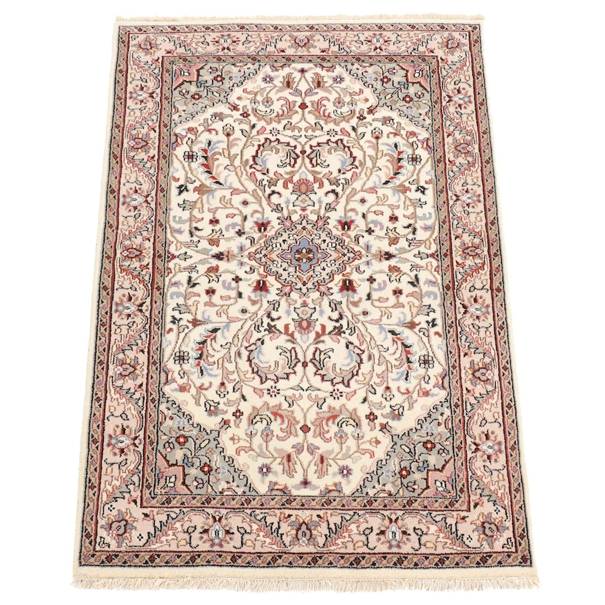 4' x 6'4 Hand-Knotted Indo Persian Tabriz Rug, 2000s