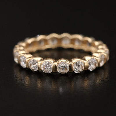 14K Cubic Zirconia Eternity Band