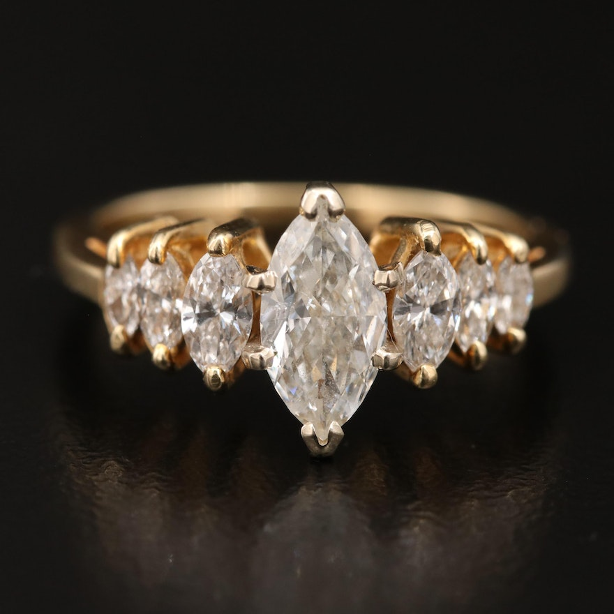 14K 1.30 CTW Diamond Ring
