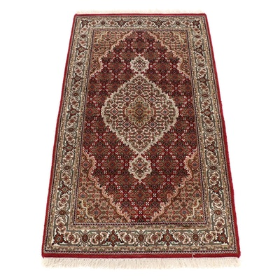 3'1 x 5'9 Hand-Knotted Indo Persian Silk Blend Rug, 2010s