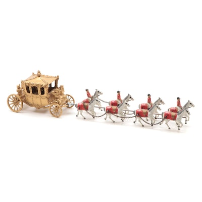 Queen Elizabeth II Coronation Carriage Figurine, Vintage
