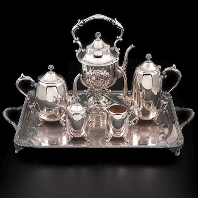 Hartford Sterling Co. Silver Plate Tea and Coffee Set, and Silver Plate Tray