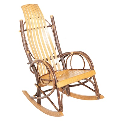 Bentwood Rocking Chair with Oak Slats
