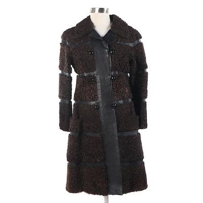 Elsa Schiaparelli Persian Lamb Fur and Leather Coat, 1940-1950s
