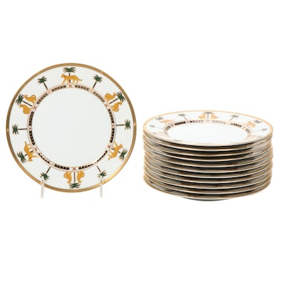 "Christian Dior ""Casablanca"" Bone China Dinner Plates"