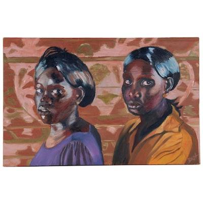 Deborah Kiss Holtschlag Double Portrait Oil Painting