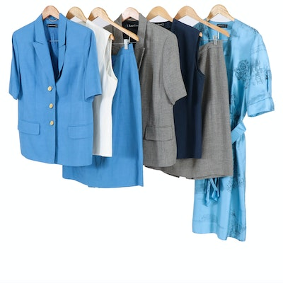 Louis Féraud Silk Dress with Other Linen Suits and Separates