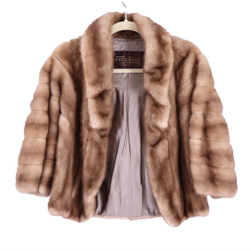 Gidding Jenny Women's Sable Mink Fur Cape