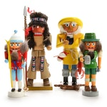 Hand-Crafted Nutcrackers, Set of Four