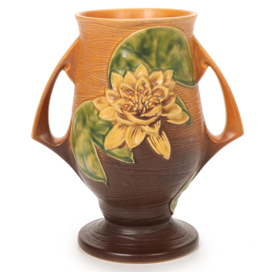 "Roseville Pottery ""Water Lily"" Vase, 1940s"