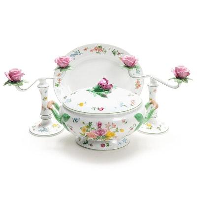 "Franklin Mint ""La Soupiere Provencal"" Porcelain Tureen and Candelabras"