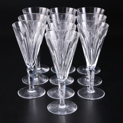 "Waterford Crystal ""Sheila"" Champagne Flutes, Mid/Late 20th Century"