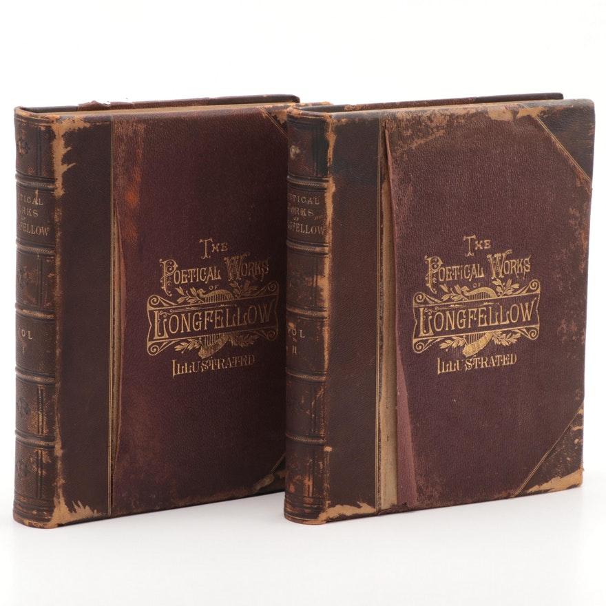 """The Poetical Works of Henry Wadsworth Longfellow Illustrated,"" 2 vols., 1879-80"