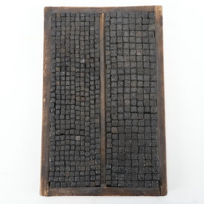 Chinese Movable Type Printing Typeset, Early 20th Century