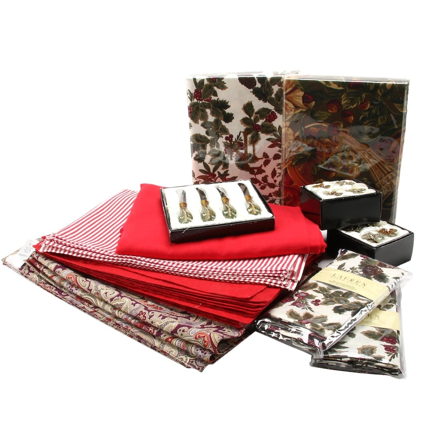 Table Linens and Accessories Including Williams-Sonoma, Ralph Lauren and Bombay