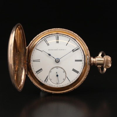 1885 Elgin Gold Filled Hunting Case Pocket Watch