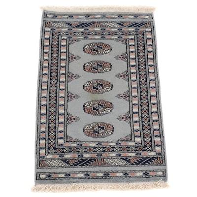2' x 3'1 Hand-Knotted Pakistani Bokhara Turkoman Rug, 2000s