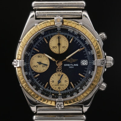 18K and Stainless Steel Breitling Chronomat D'13048 Automatic Wristwatch