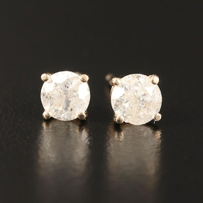 14K 1.20 CTW Diamond Stud Earrings