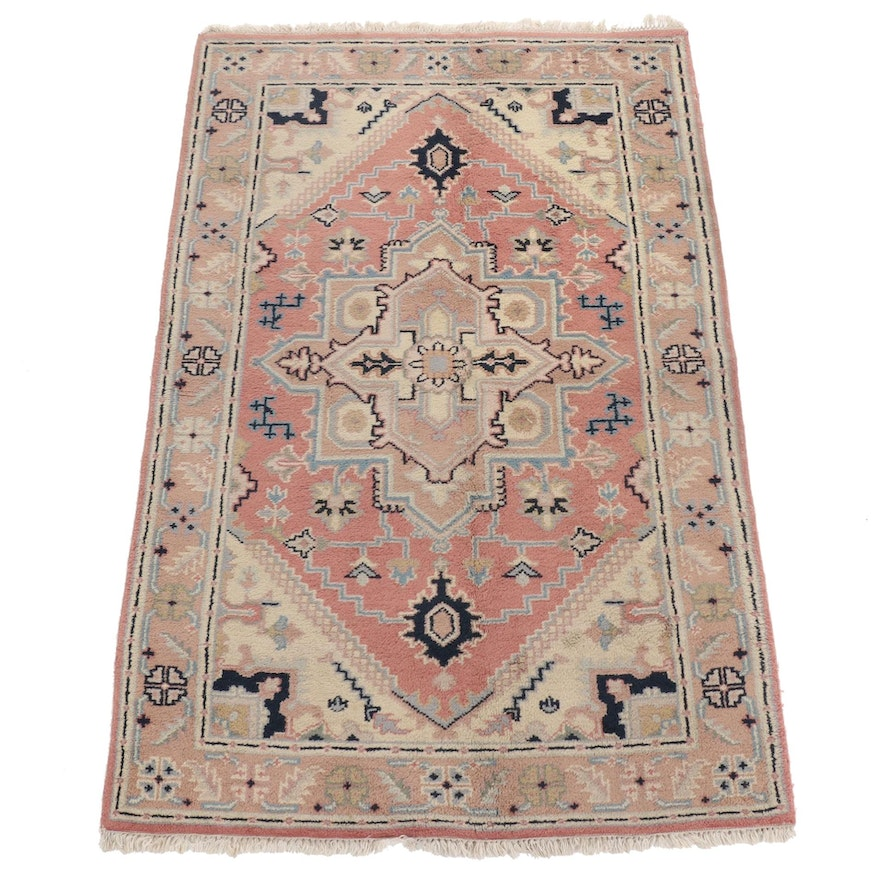 5'4 x 8'3 Hand-Knotted Indo Persian Heriz Rug, 2000s