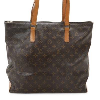 Louis Vuitton Cabas Mezzo Tote in Monogram Canvas and Vachetta Leather