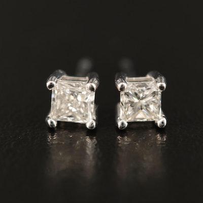 14K 0.50 CTW Diamond Stud Earrings