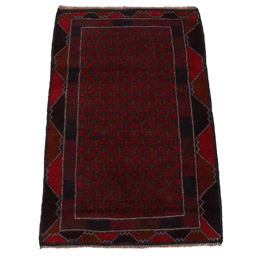2'9 x 4'4 Hand-Knotted Afghani Turkoman Rug, 2000s