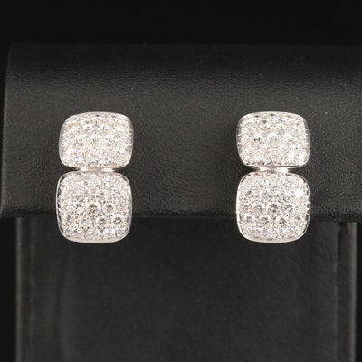 Damiani 18K 3.04 CTW Diamond Earrings