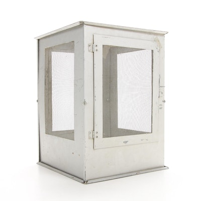 Mesh and Metal Pet Insect Habitat Box, Mid-20th Century