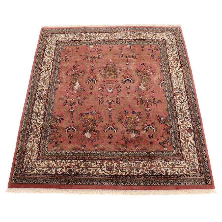 8' x 9'8 Hand-Tufted Indo Persian Tabriz Rug, 2000s