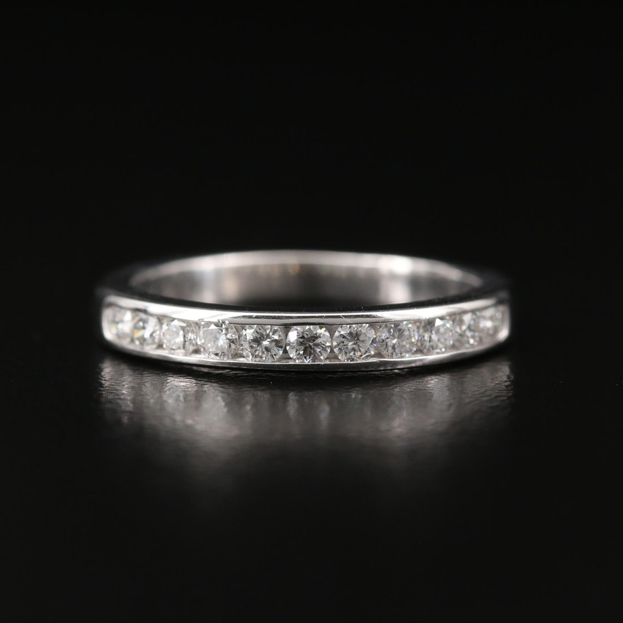 Tiffany & Co. Platinum Diamond Channel Band
