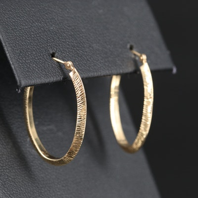 14K Oval Hoop Earrings