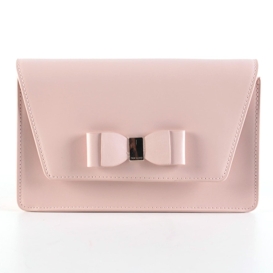 Ted Baker Pale Pink Two-Way Bow Clutch