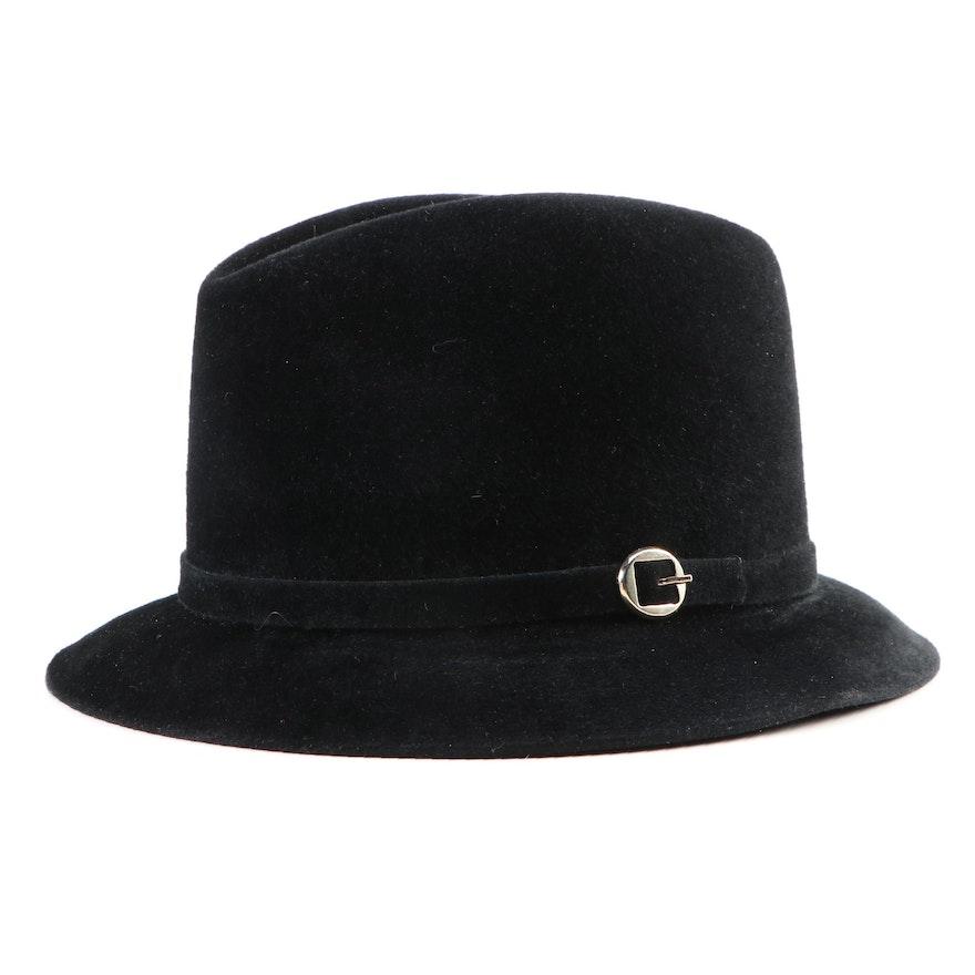 Men's Dobbs Black Fur Felt Fedora