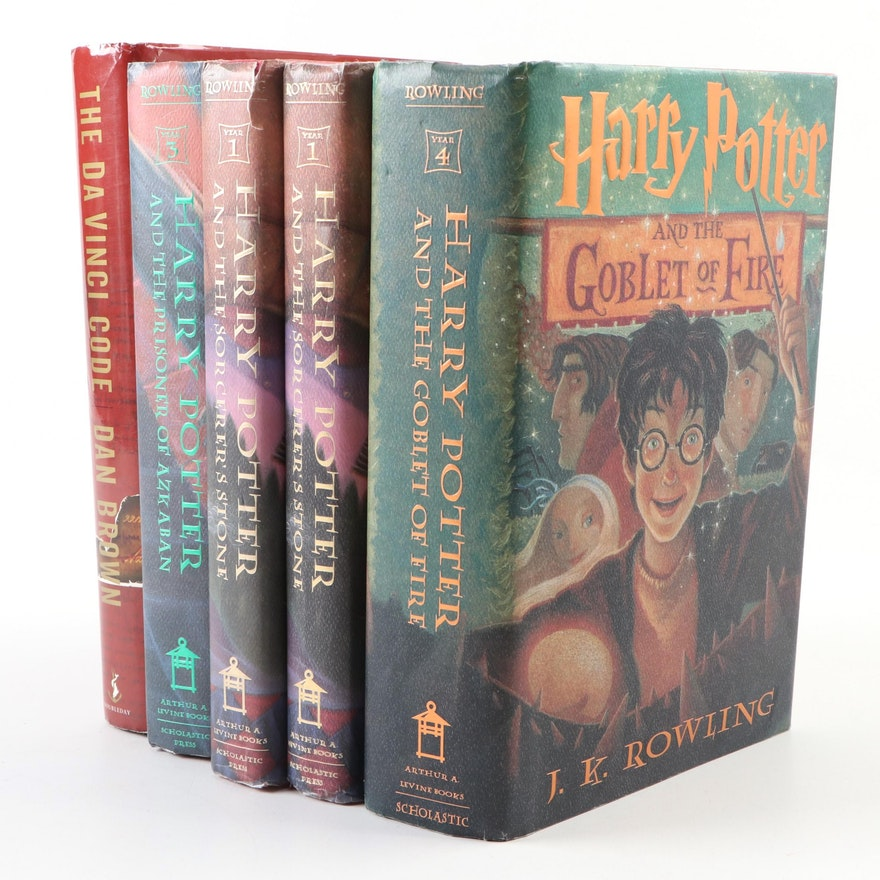 """Partial Set of First American Edition """"Harry Potter"""" Series and More"""