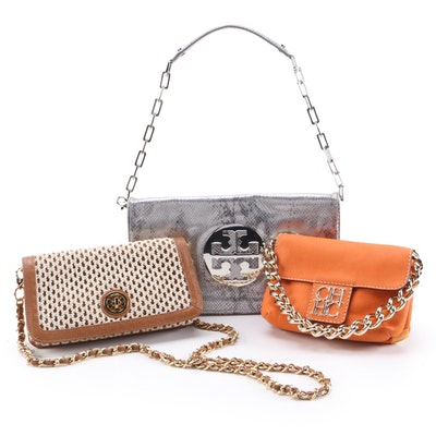 Tory Burch Reva Bag and Convertible Clutch with Carolina Herrera Two-Sided Bag