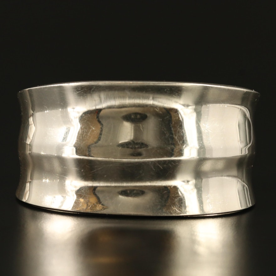 Mexican Sterling Silver Tapered Cuff