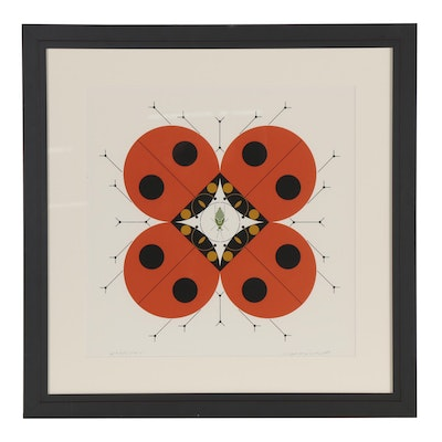 """Charley Harper Serigraph """"The Last Aphid,"""" 1981"""