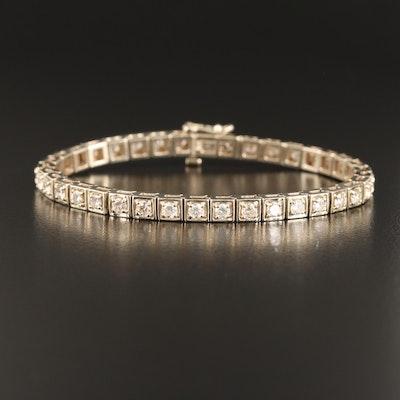 14K 3.90 CTW Diamond Line Bracelet