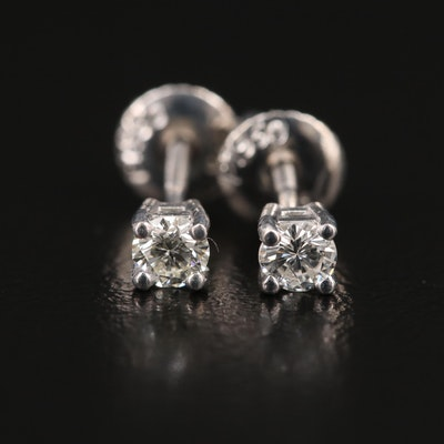 Platinum 0.28 CTW Diamond Stud Earrings