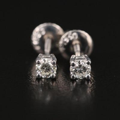 Platinum 0.28 CTW Diamond Stud Earrings