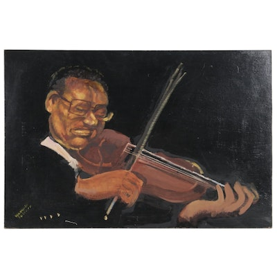 Rosemarie Toliver Oil Painting of Violinist