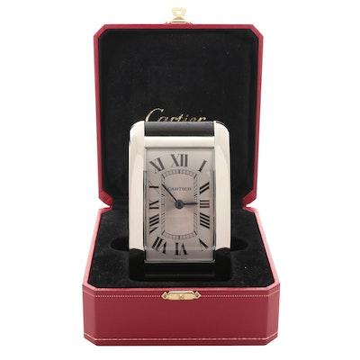 Cartier Tank Style Easel Desk Clock