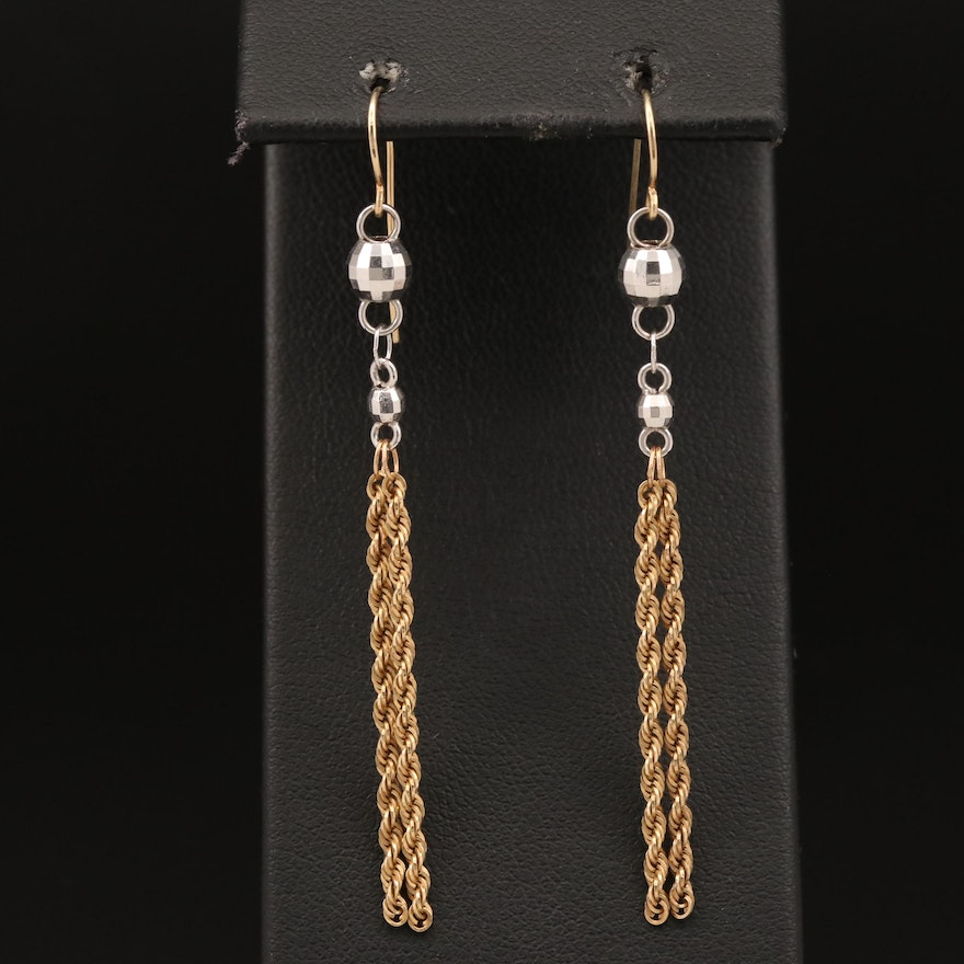 Michael Anthony 10K French Rope Dangle Earrings