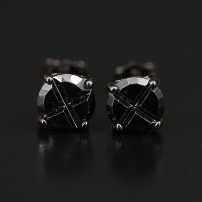 Sterling Spinel Stud Earrings