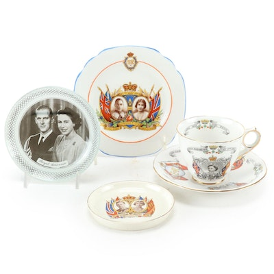 Royal Stafford English Coronation and Souvenir  Porcelain, Early to Mid 20th C.