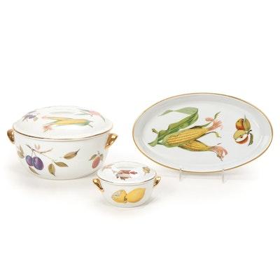 """Royal Worcester """"Evesham Gold"""" Porcelain Bakeware"""